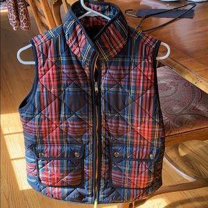 Jcrew women's small plaid vest new!